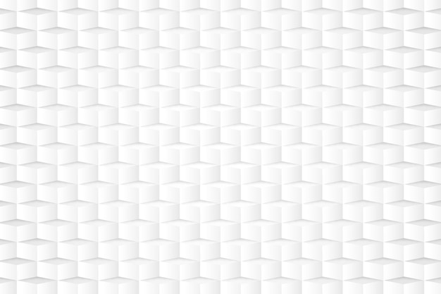 White wallpaper in 3d paper style