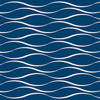 White wave on blue background