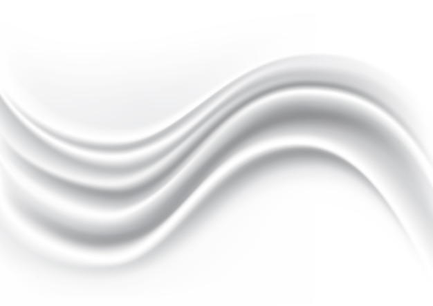 White wave silk fabric abstract background