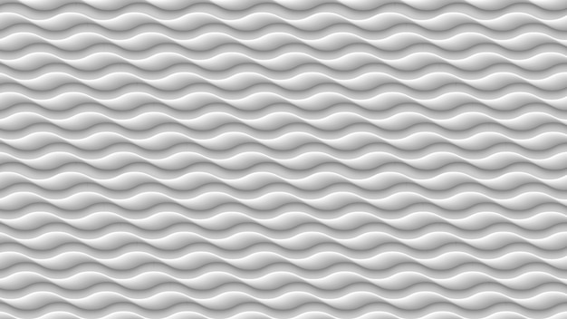 White wave texture, 3d gray abstract pattern, wavy lines texture background