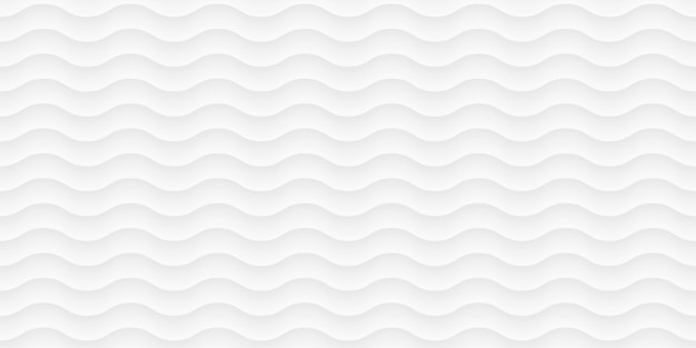 白い波のパターン、曲線。ペーパーカットの抽象的なテクスチャ。