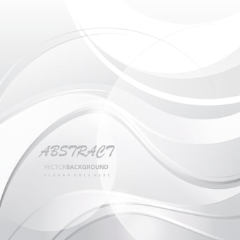White wavy abstract background