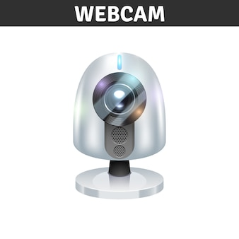 White webcam front view for computers and laptops
