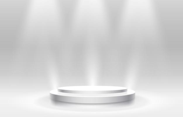 ビジネスコンセプトの白人受賞者表彰台、表彰台オブジェクト