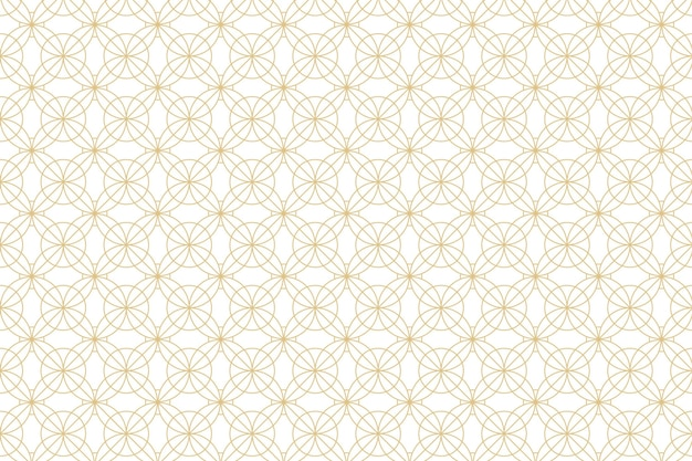 White with golden geometry pattern