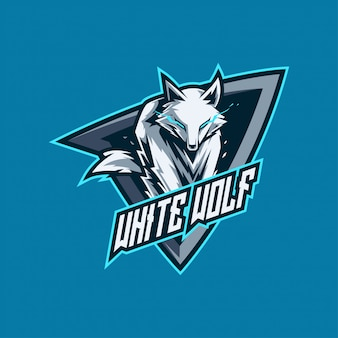 White wolf esports and gaming logo