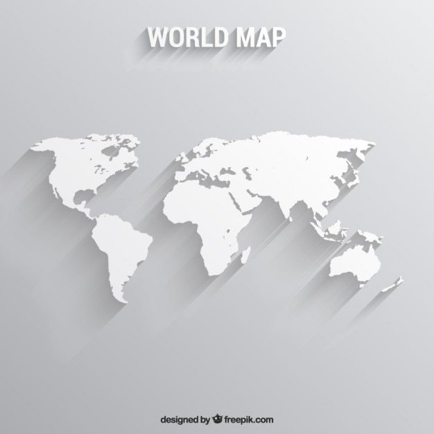 Beautiful White World Map