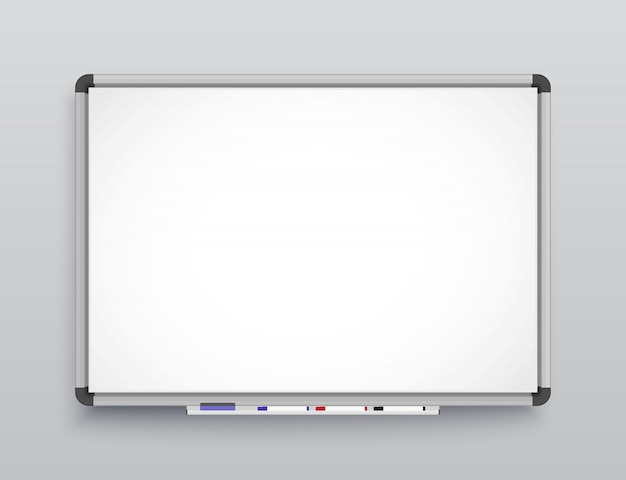 Whiteboard for markers.