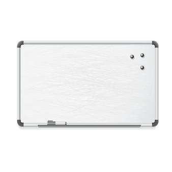 マーカーと磁石付きのホワイトボード