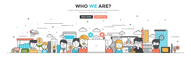 Who we are for website and mobile website