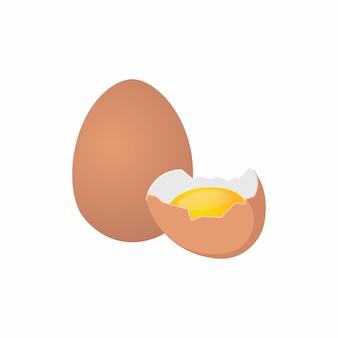 Целые и взбитые яйца изолированные