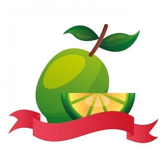 Whole and slice lemon citrus