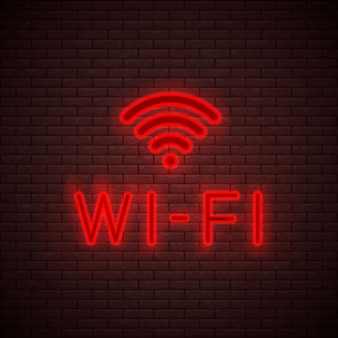 Wi-fi neon sign