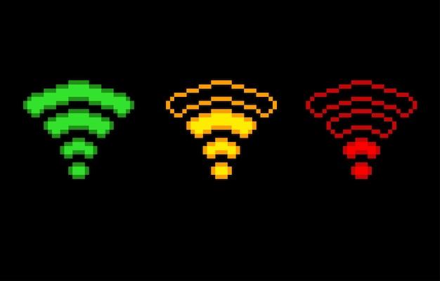 Сигнал wi-fi в стиле пиксель-арт