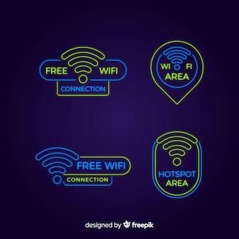 Неоновая коллекция wi-fi знак