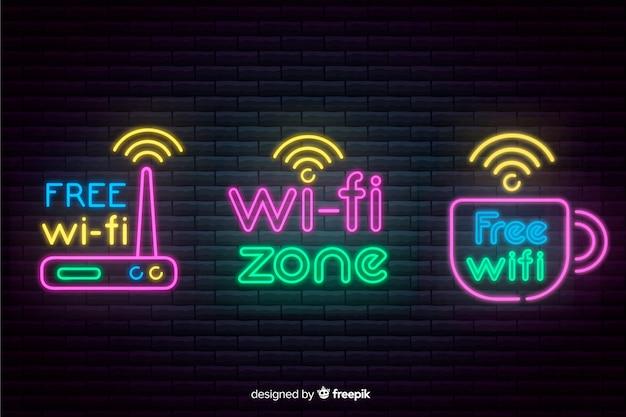 Неоновый wi-fi сбор сигналов