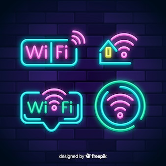 Неоновая коллекция wi-fi бесплатно