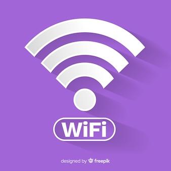 Плоский дизайн концепции сети wi-fi