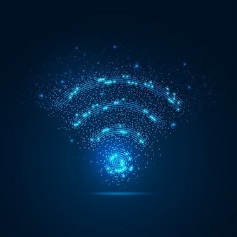 Знак wi-fi с элементом