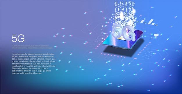 Новое беспроводное интернет соединение wi-fi. большие данные двоичного кода потоковых чисел. иллюстрация технологии скорости передачи данных соединения нововведения глобальной сети высокоскоростная.