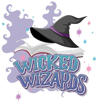 Wicked wizards logo on white background