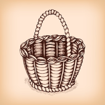 Wicker basket sign emblem