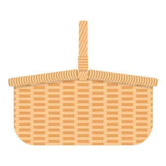 Wicker hamper for food and drinks woven willow basket for camping