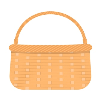 Wicker picnic basket for food and drinks woven willow basket with handle