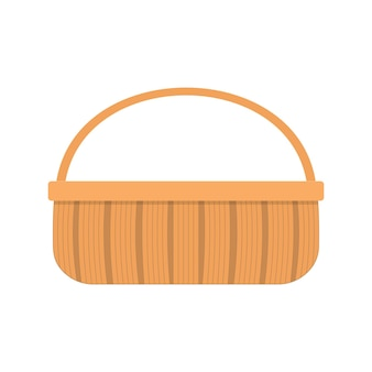 Wicker picnic basket for food and drinkswoven willow hamper with one handle