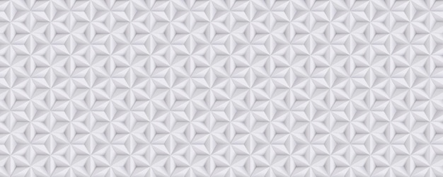 Wide abstract white, grey background, 3d paper pattern with stars, geometric