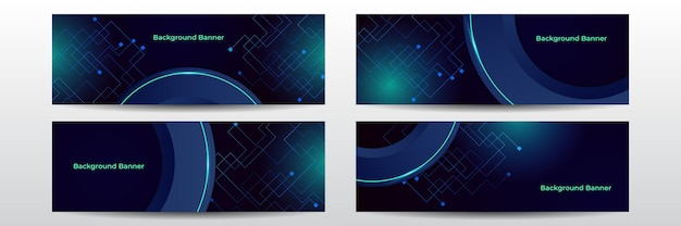 Wide background with various technological elements. hi-tech computer digital technology concept. abstract technology communication. neon glowing lines. speed and motion blur over dark background.