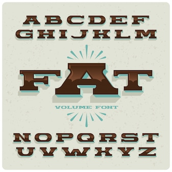 Широкий жирный винтажный шрифт