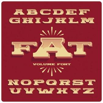 대담한 빈티지 글꼴 세트