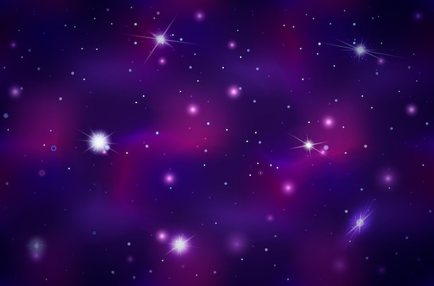 Wide deep space background with bright stars and constellations
