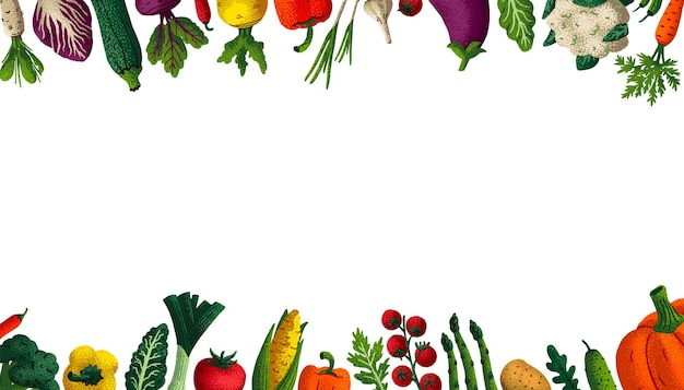 Wide horizontal healthy eating background