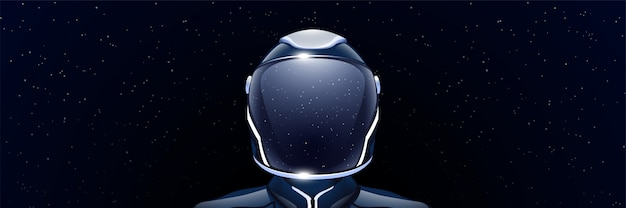 Широкое изображение космонавта