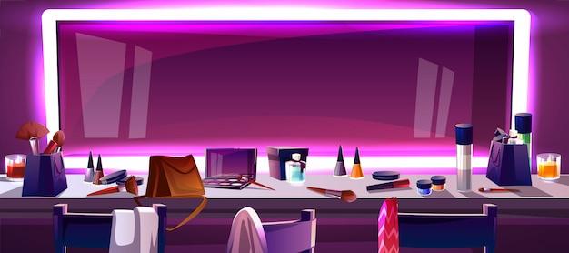 Ledストリップライト、漫画のフレームに囲まれたメイクのためのワイドミラー