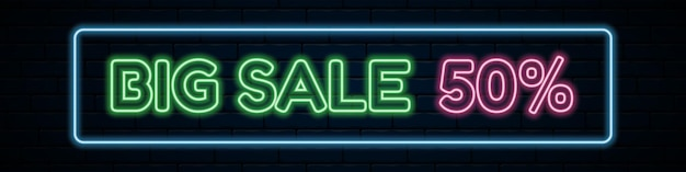 Wide navy blue horizontal banner for a big sale