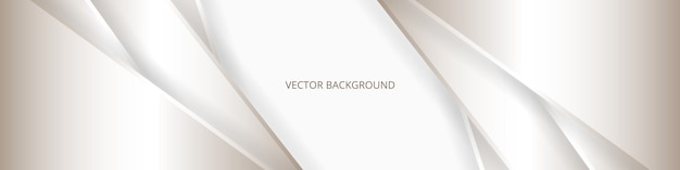 線と影の広い白い豪華な抽象バナー。