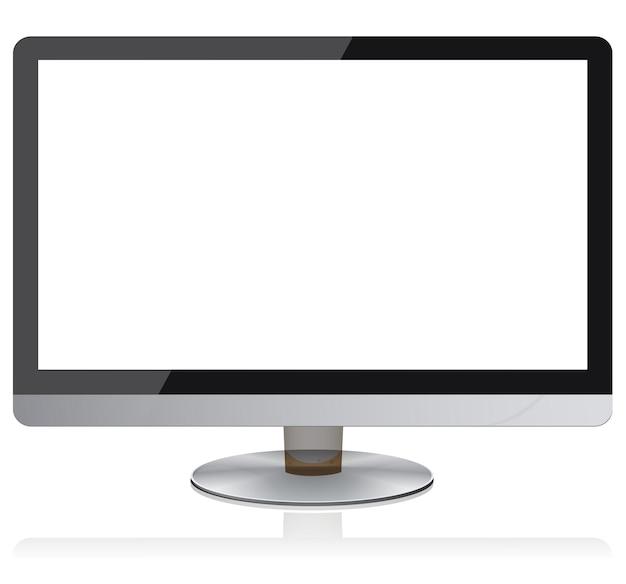 Widescreen flat monitor modern digital devices