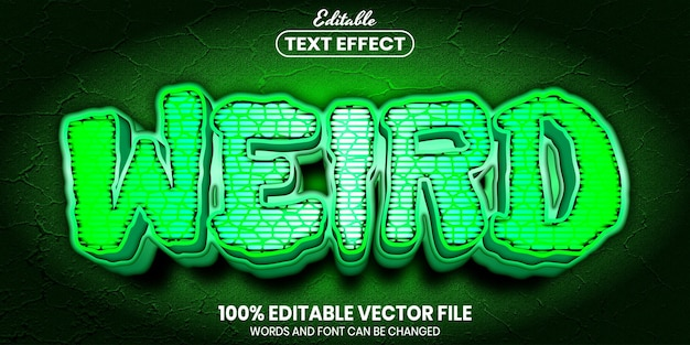 Wied text, font style editable text effect