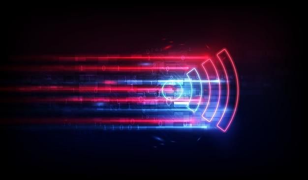 データ転送バックグラウンド用のwifiアンテナ。無料のwi-fiゾーンシンボル。
