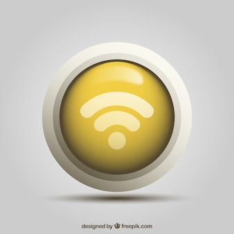 Wifi button in realistic design