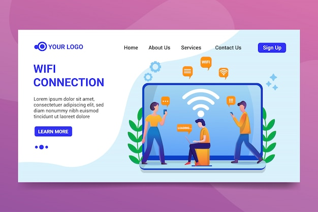 Wifi connection landing page