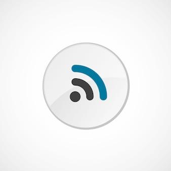 Wifiアイコン2色、グレーとブルー、サークルバッジ