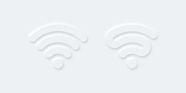 Wifi icon vector sign isolated on white