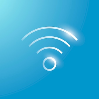 Wifi internet vector technology icon in silver on gradient background