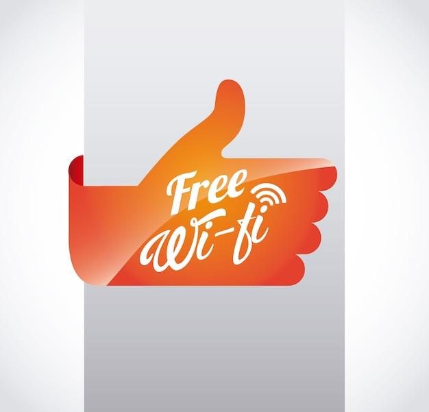 Дизайн wi-fi Premium векторы