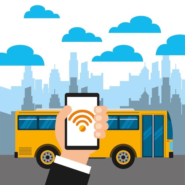 Wifi service in transport terminal