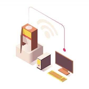 Wifi wireless connection  isometric